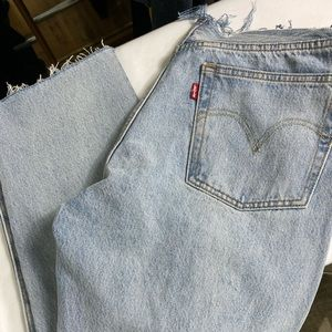 Levi's raw edge waist button fly jeans NWOT